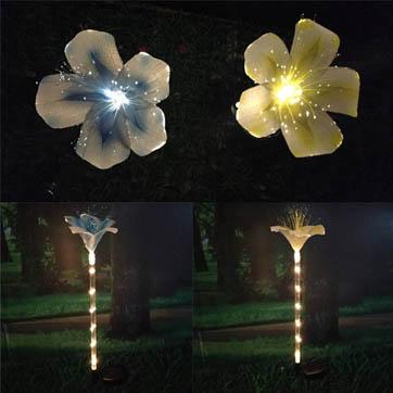 סיבים אופטיים קישוט פרחים אור